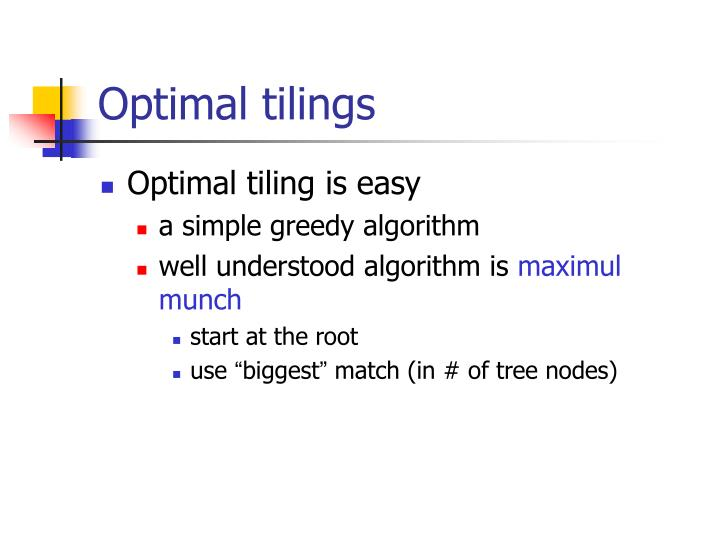 Optimal tilings