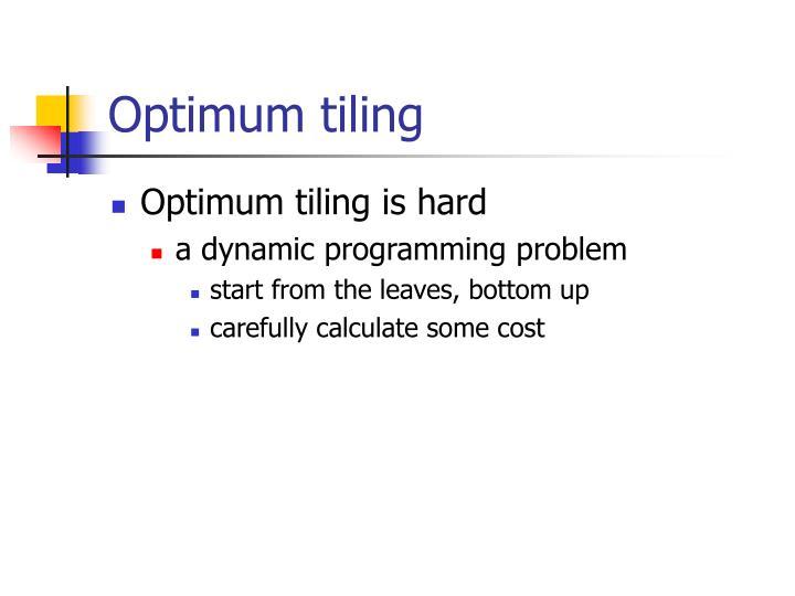 Optimum tiling