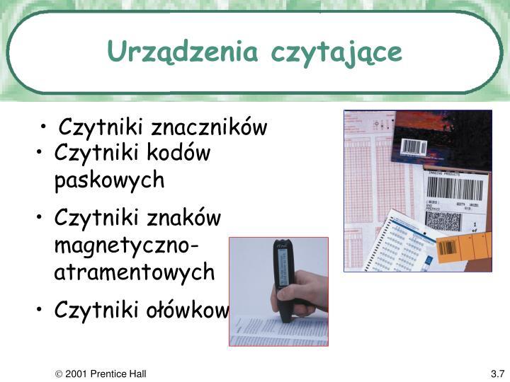 Urządzenia czytające