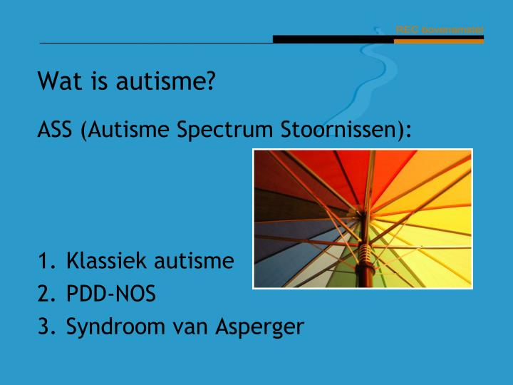 Wat is autisme?