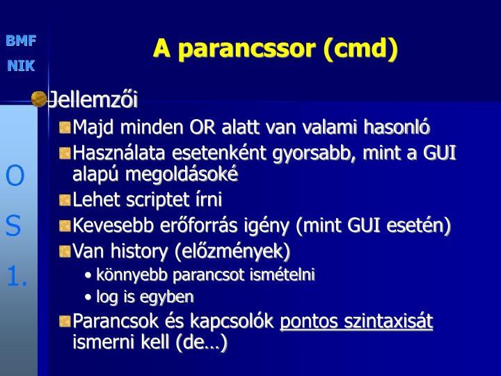 A parancssor (cmd)