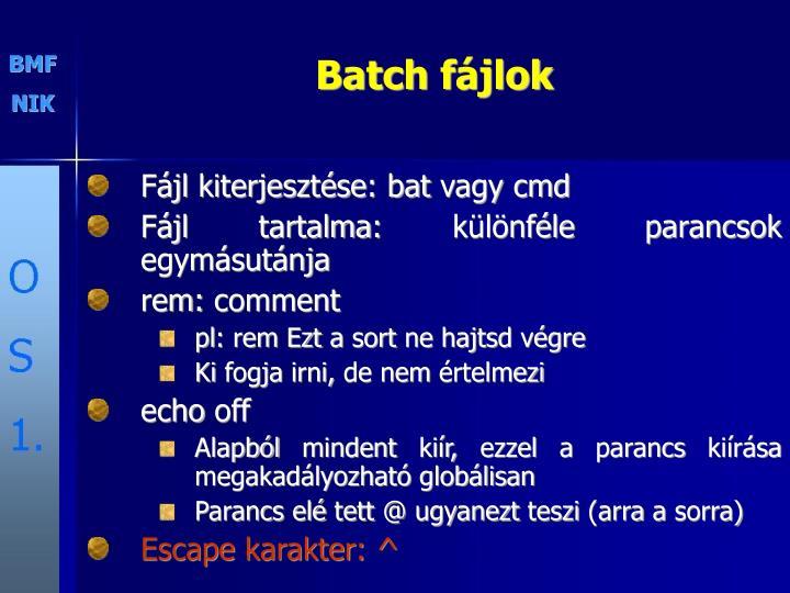 Batch f