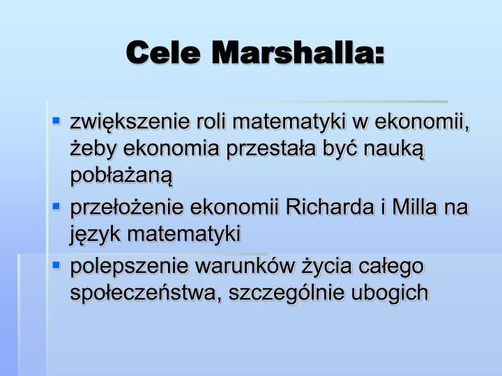 Cele Marshalla: