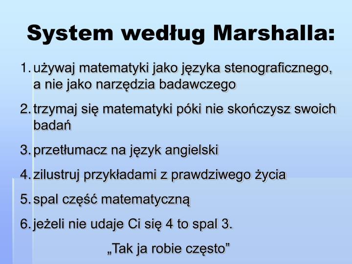 System według Marshalla: