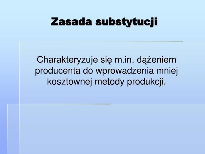 Zasada substytucji