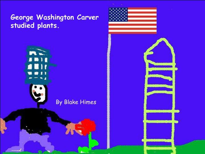 George Washington Carver studied plants.