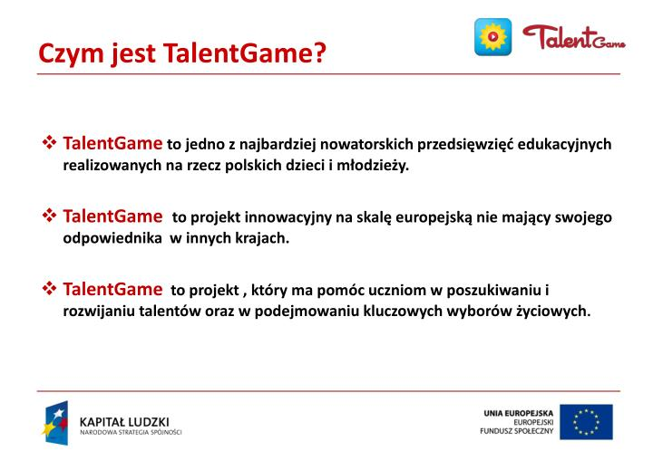 Czym jest TalentGame?