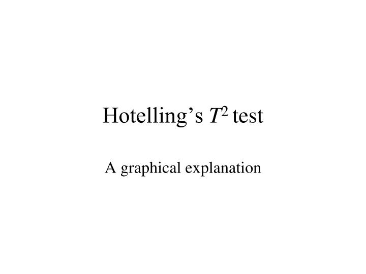 Hotelling's