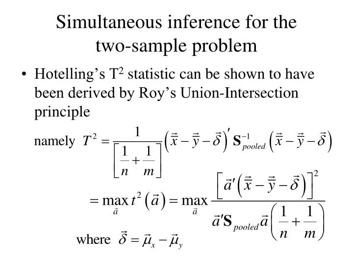 Simultaneous inference for the