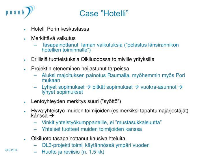 """Case """"Hotelli"""""""