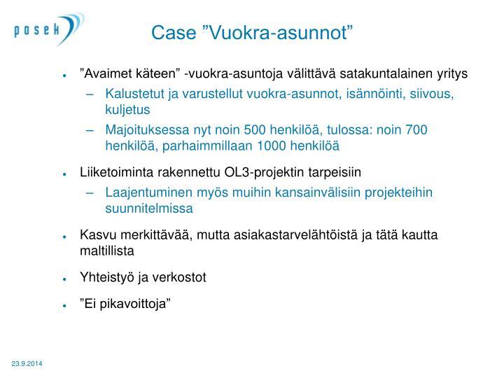 """Case """"Vuokra-asunnot"""""""
