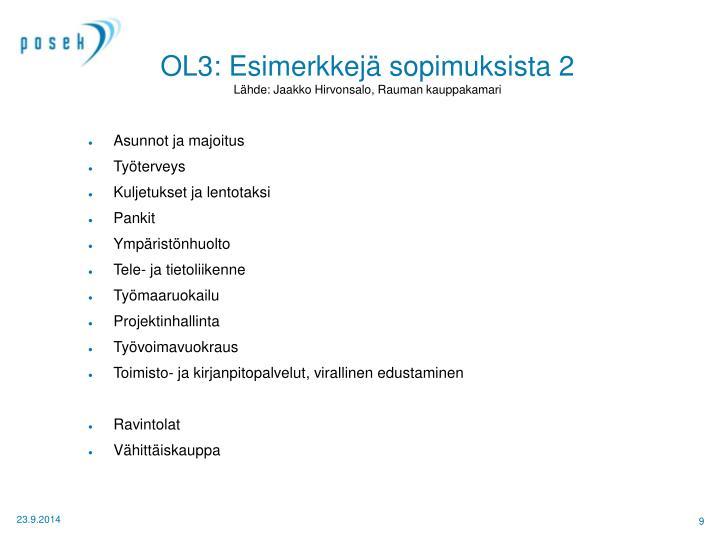 OL3: Esimerkkejä sopimuksista 2