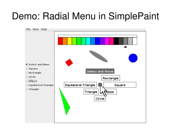 Demo: Radial Menu in SimplePaint