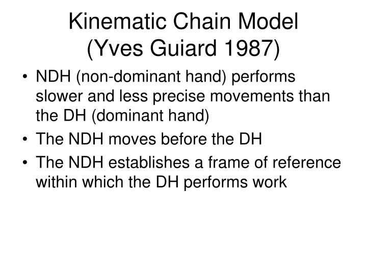 Kinematic Chain Model