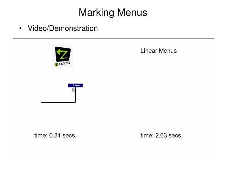 Marking Menus