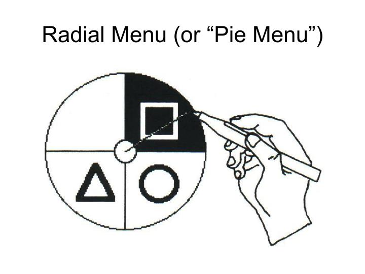 "Radial Menu (or ""Pie Menu"")"