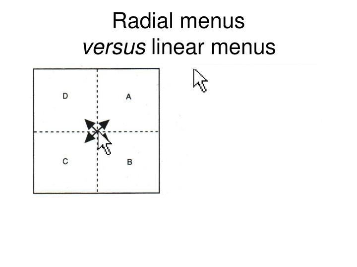 Radial menus