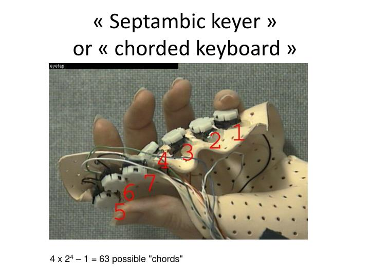 « Septambic keyer »