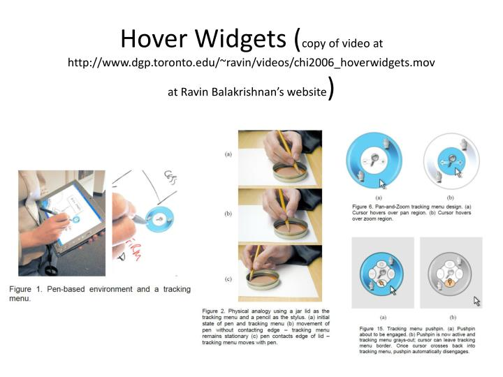 Hover Widgets (