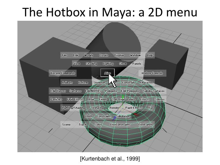 The Hotbox in Maya: a 2D menu