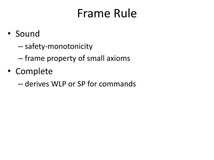 Frame Rule