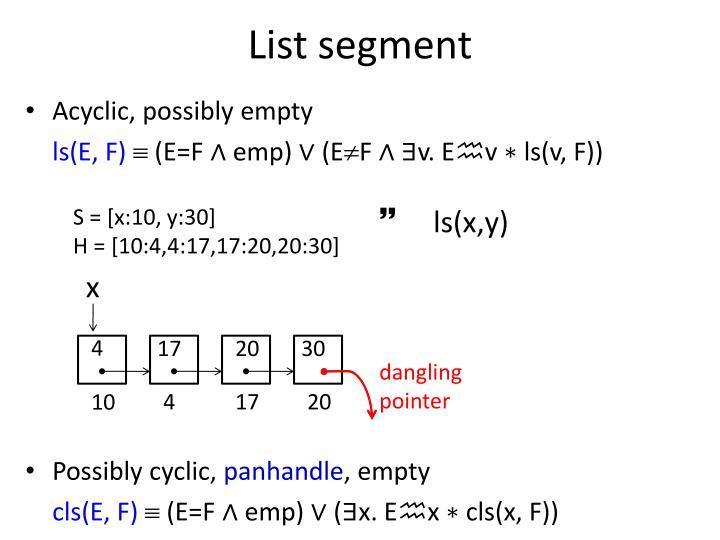 List segment