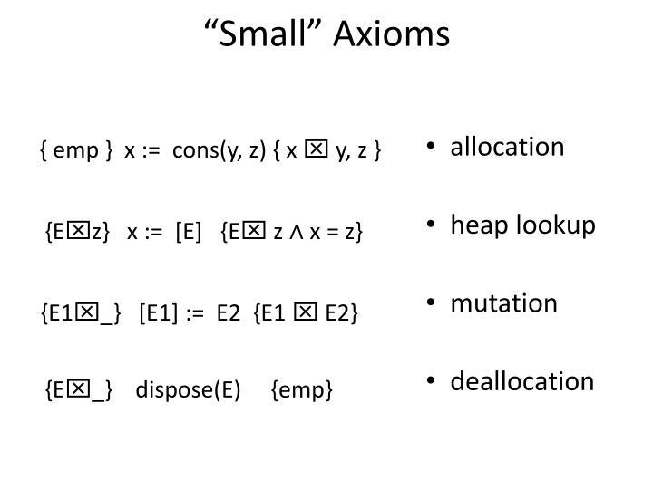 """""""Small"""" Axioms"""
