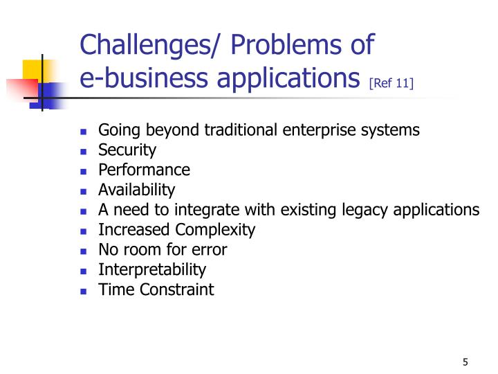 Challenges/ Problems of