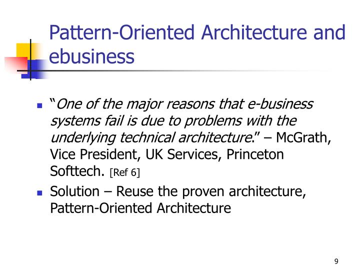 Pattern-Oriented Architecture and ebusiness