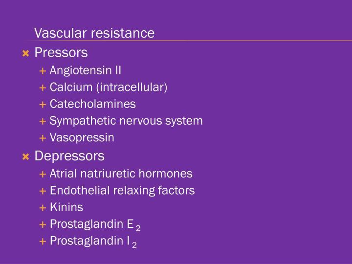 Vascular resistance