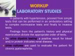 workup laboratory studies