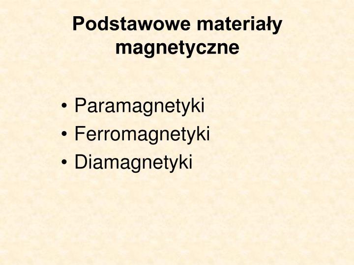 Podstawowe materiały magnetyczne