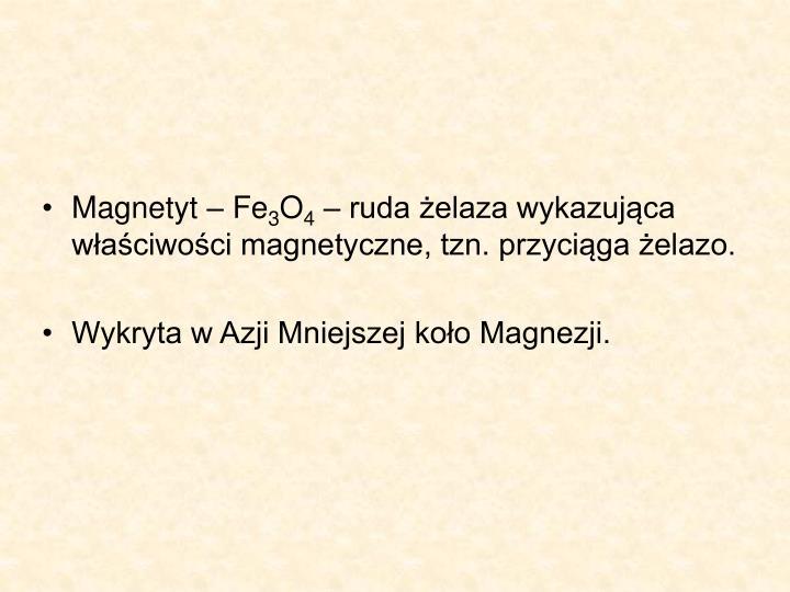 Magnetyt – Fe