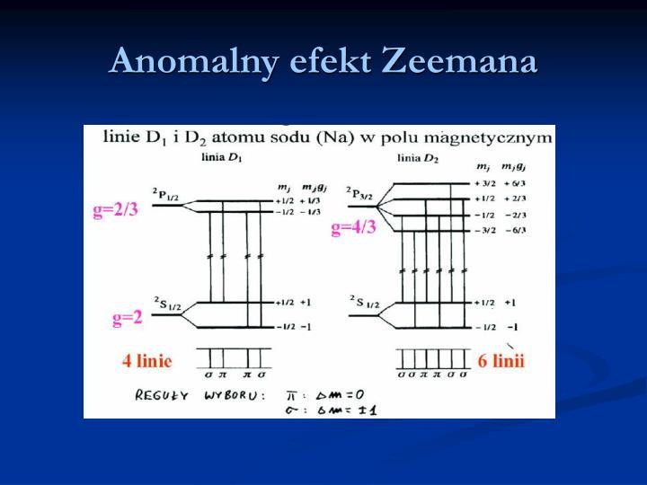 Anomalny efekt Zeemana