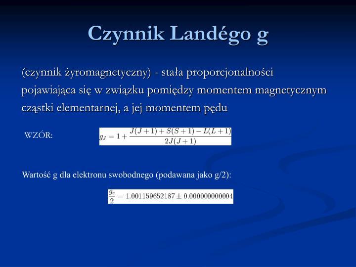 Czynnik Landégo g