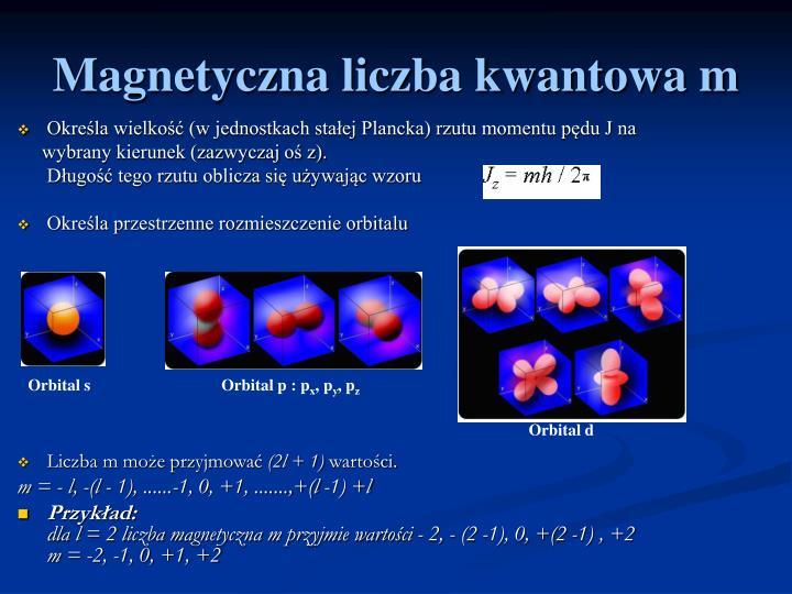 Magnetyczna liczba kwantowa m