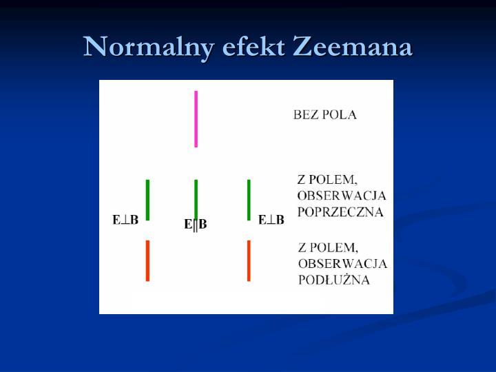Normalny efekt Zeemana
