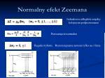 normalny efekt zeemana2