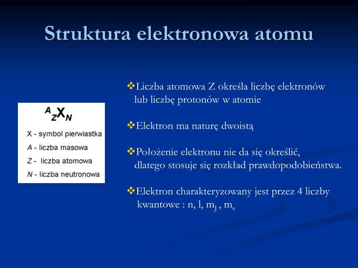 Struktura elektronowa atomu