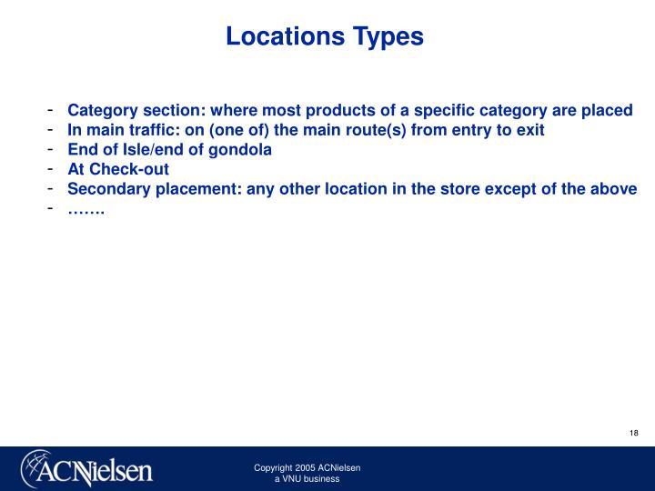 Locations Types