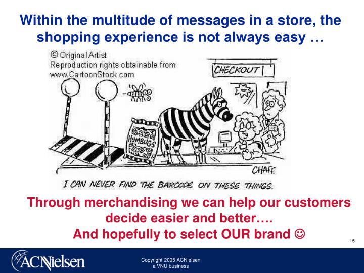 Within the multitude of messages in a store, the shopping experience is not always easy …