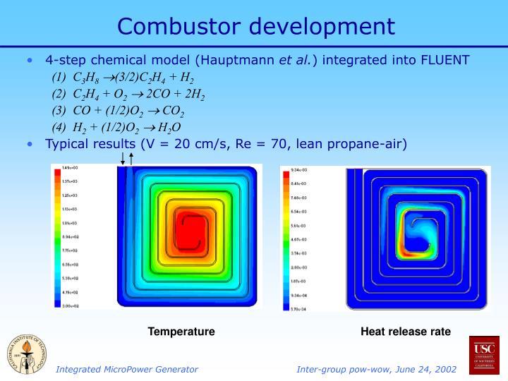 Combustor development