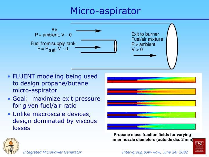 Micro-aspirator