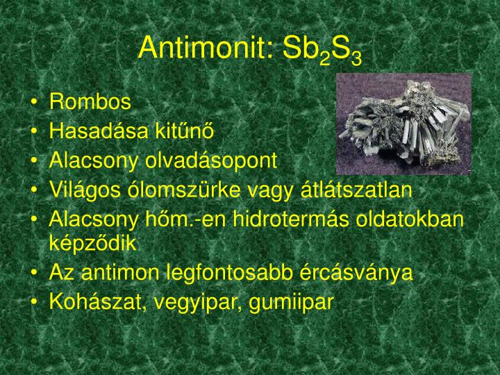 Antimonit: Sb