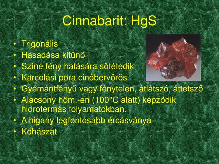 Cinnabarit: HgS