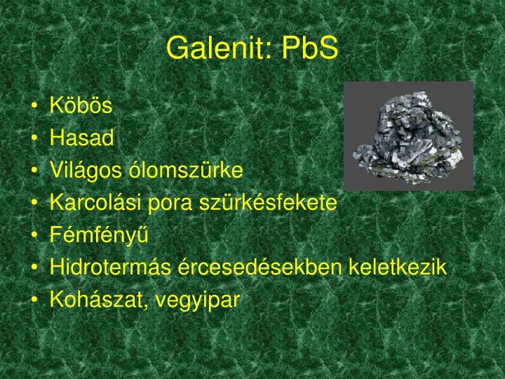 Galenit: PbS