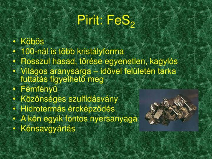 Pirit: FeS