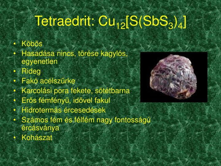 Tetraedrit: Cu
