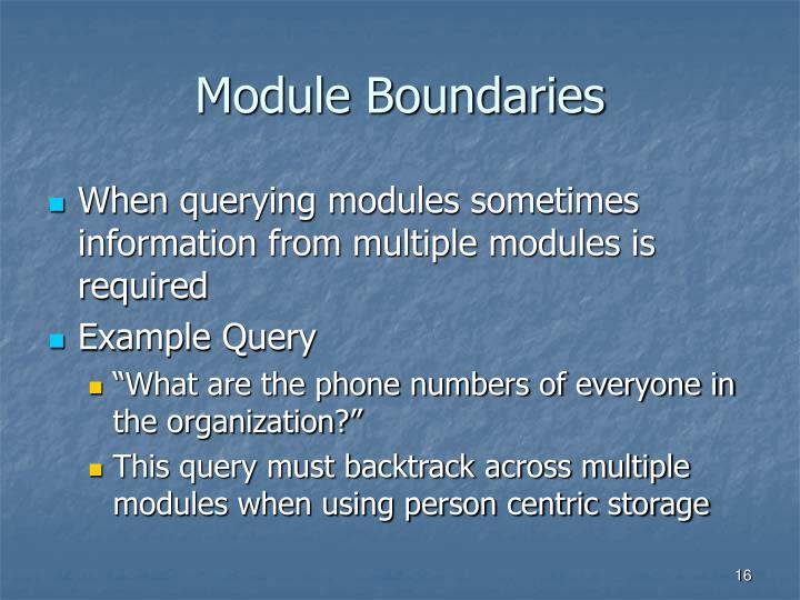 Module Boundaries