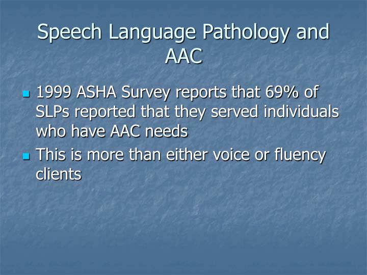 Speech Language Pathology and AAC